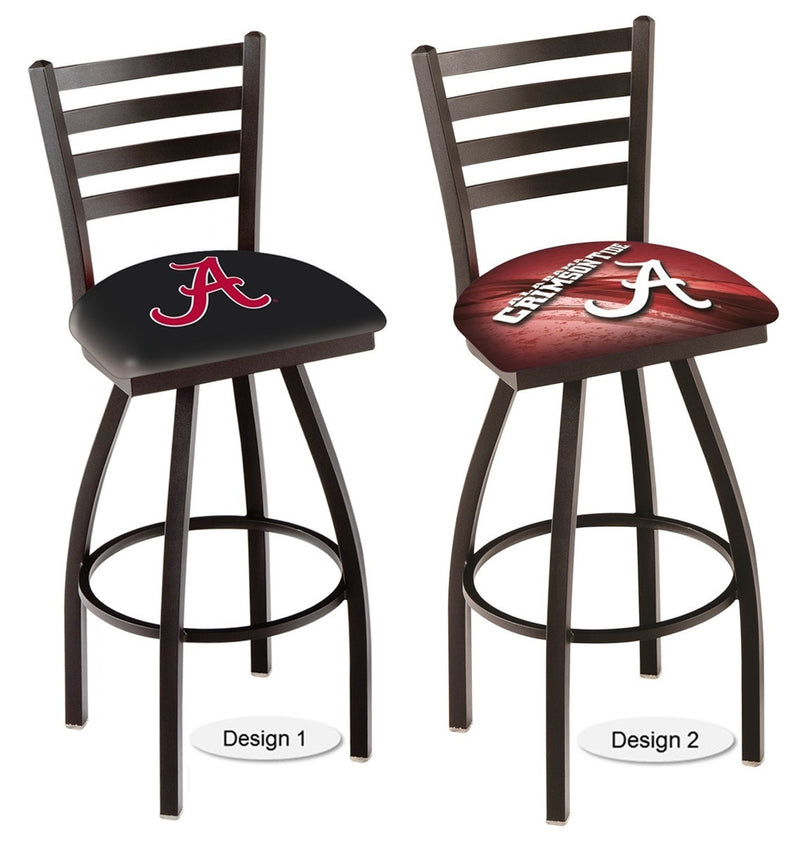 Alabama Crimson Tide A Ladder Back Bar Stool