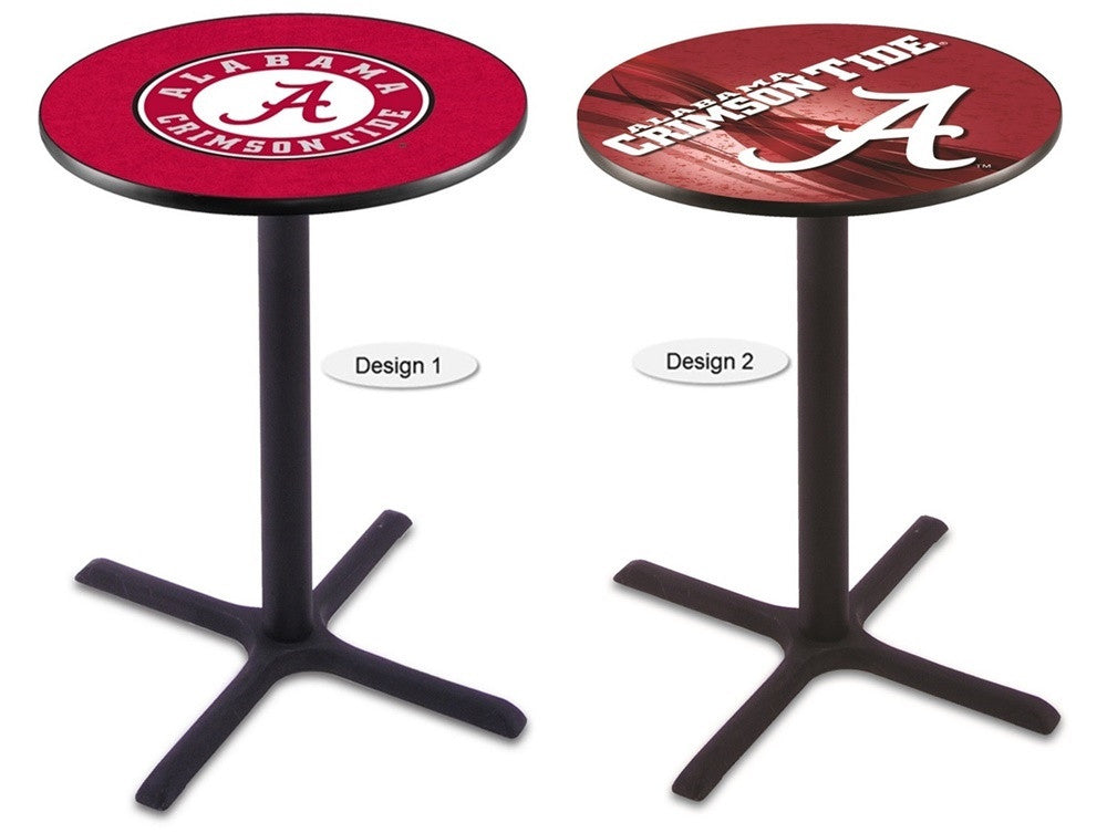 Alabama Crimson Tide A Black X-Base Pub Table