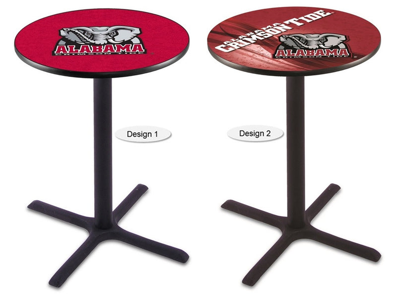 Alabama Crimson Tide Elephant Black X-Base Pub Table