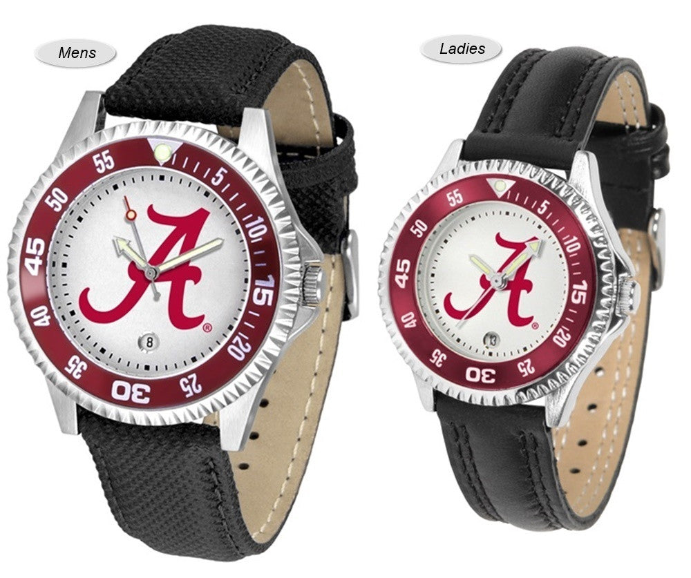 Alabama Crimson Tide Competitor Sport Leather Watch