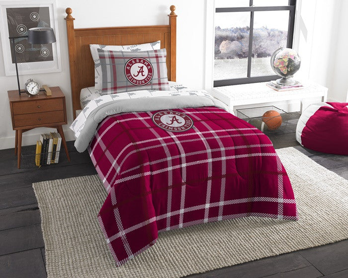 Alabama Crimson Tide Twin Bed-in-a-Bag with Sheets - SportsFansPlus.com
