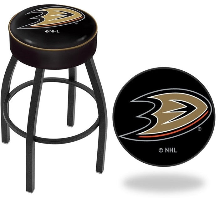 Anaheim Ducks NHL D1 Black Bar Stool
