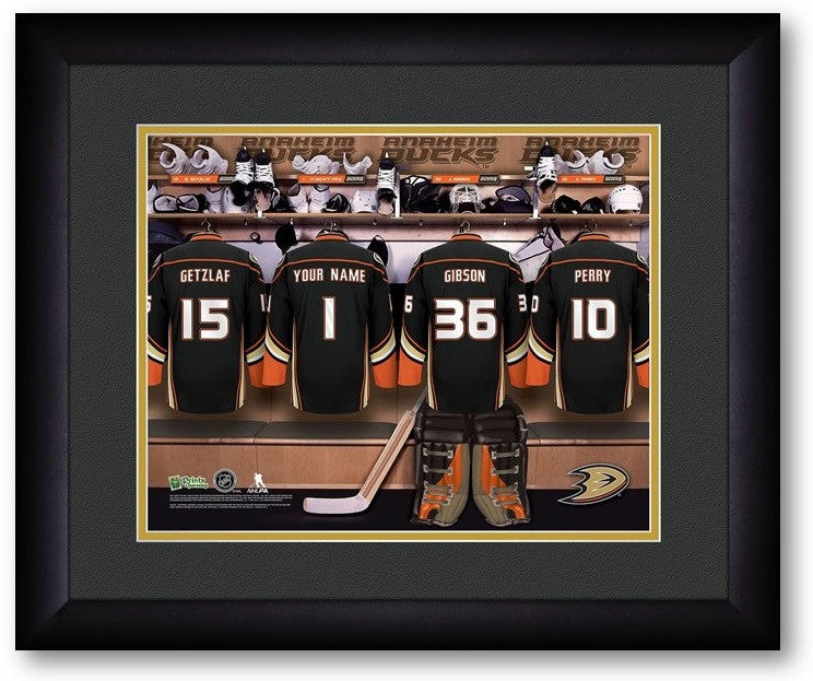 Anaheim Ducks NHL Personalized Locker Room Print - SportsFansPlus.com