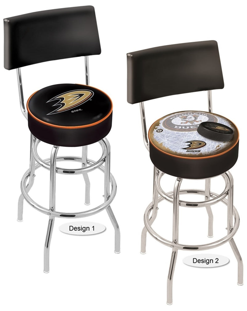 Anaheim Ducks NHL Chrome Retro Bar Stool with Back