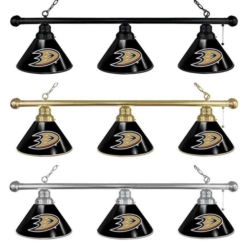 Anaheim Ducks NHL 3-Shade Billiard Light - SportsFansPlus.com