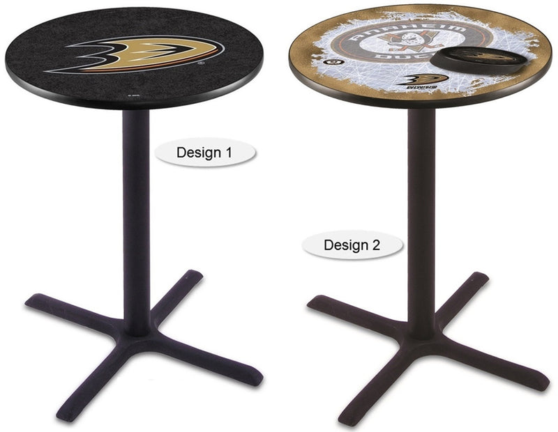Anaheim Ducks NHL Black X-Base Pub Table