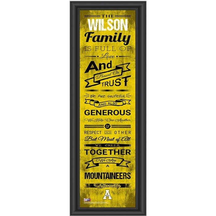 Appalachian State Mountaineers Personalized Family Cheer Print - Sports Fans Plus