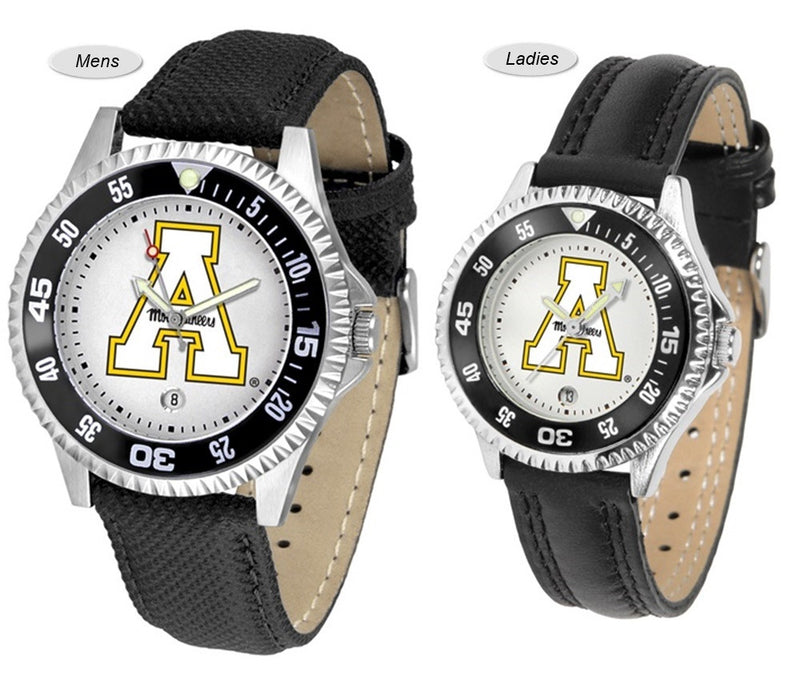 Appalachian State Mountaineers Competitor Sport Leather Watch