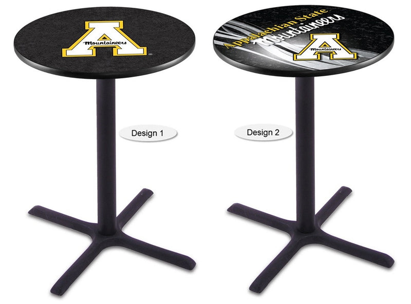 Appalachian State Mountaineers Black X-Base Pub Table