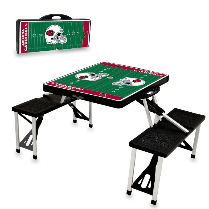 Arizona Cardinals NFL Black Portable Picnic Table - Sports Fans Plus
