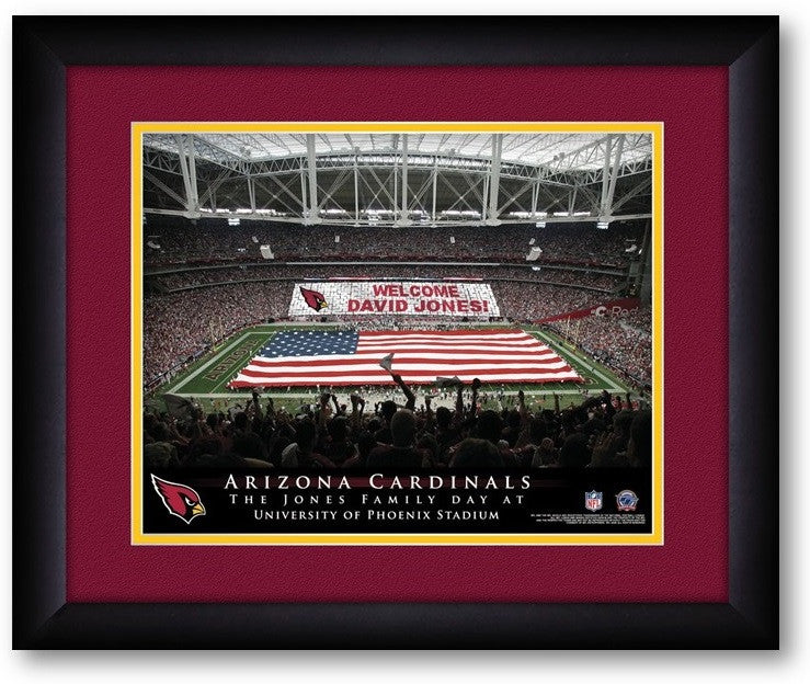 Arizona Cardinals NFL Personalized Stadium Print - Sports Fans Plus  - 2