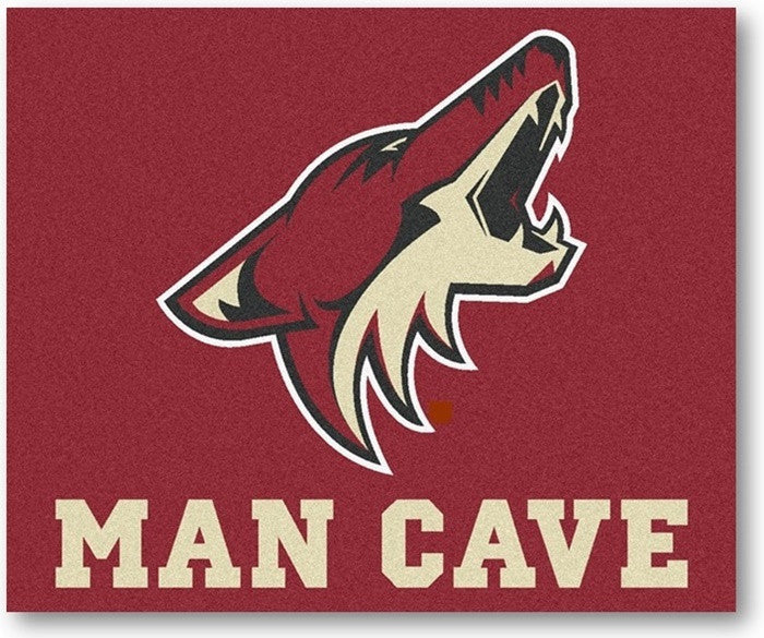 Arizona Coyotes NHL Man Cave Tailgate Rug - Sports Fans Plus