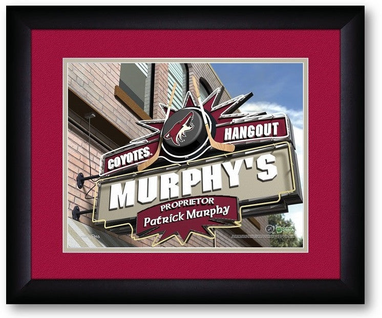 Arizona Coyotes NHL Personalized Pub Print - Sports Fans Plus  - 2