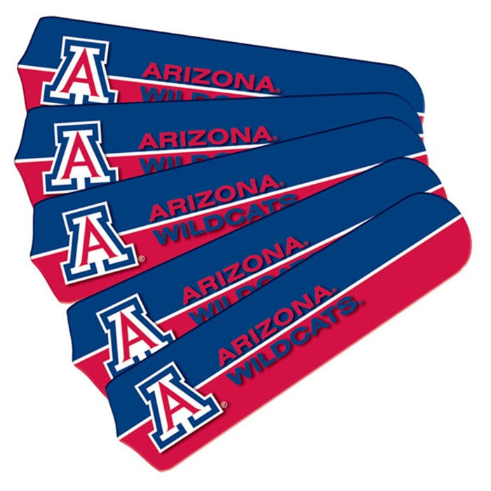 Arizona Wildcats 52-Inch Ceiling Fan Blade Set - Sports Fans Plus