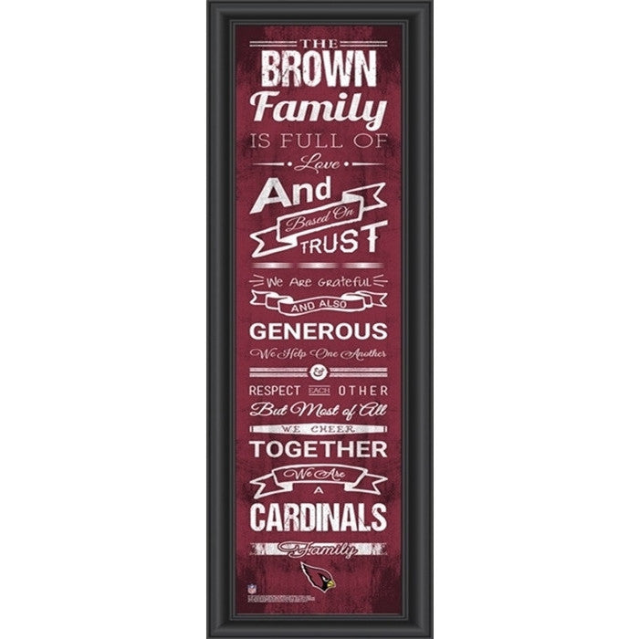 Arizona Cardinals NFL Personalized Family Cheer Print - Sports Fans Plus