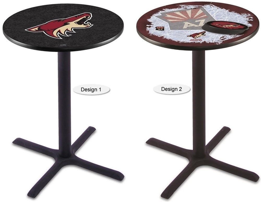 Arizona Coyotes Black NHL X-Base Pub Table