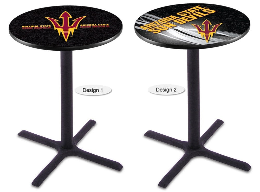 Arizona State Sun Devils Fork Black X-Base Pub Table