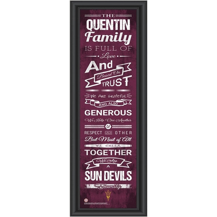 Arizona State Sun Devils Personalized Family Cheer Print