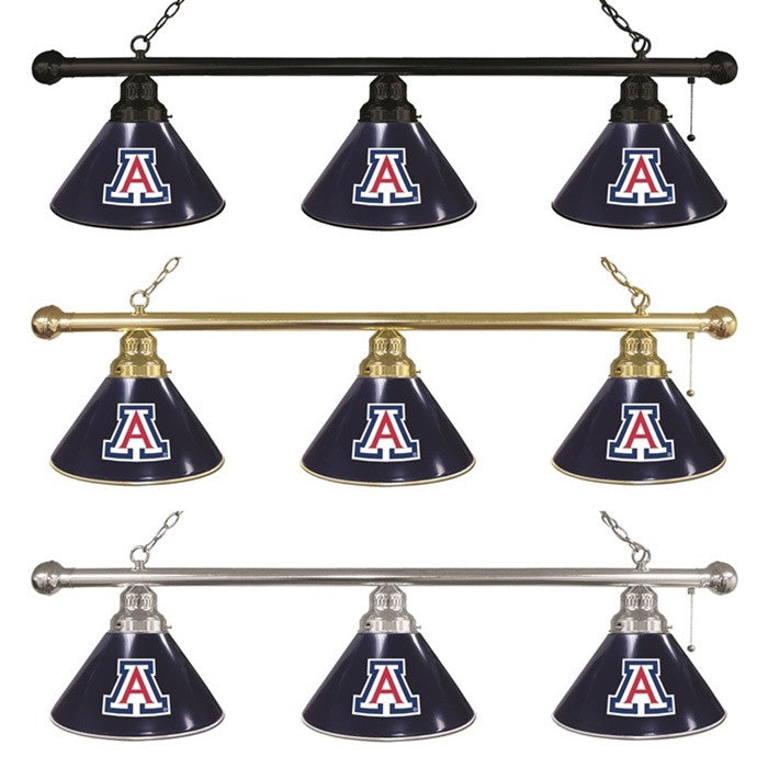 Arizona Wildcats 3-Shade Billiard Light - Sports Fans Plus - 1