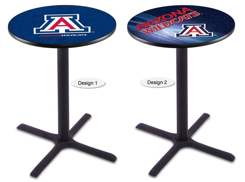 Arizona Wildcats Black X-Base Pub Table