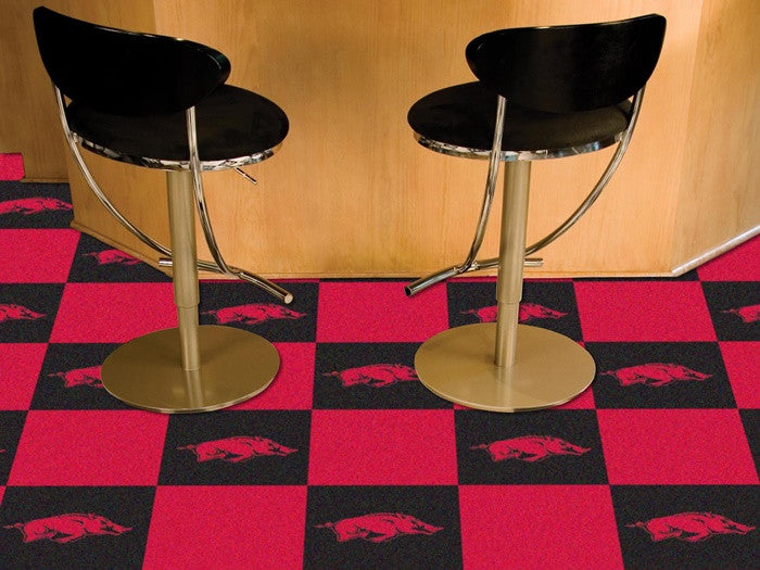 Arkansas Razorbacks Carpet Tiles