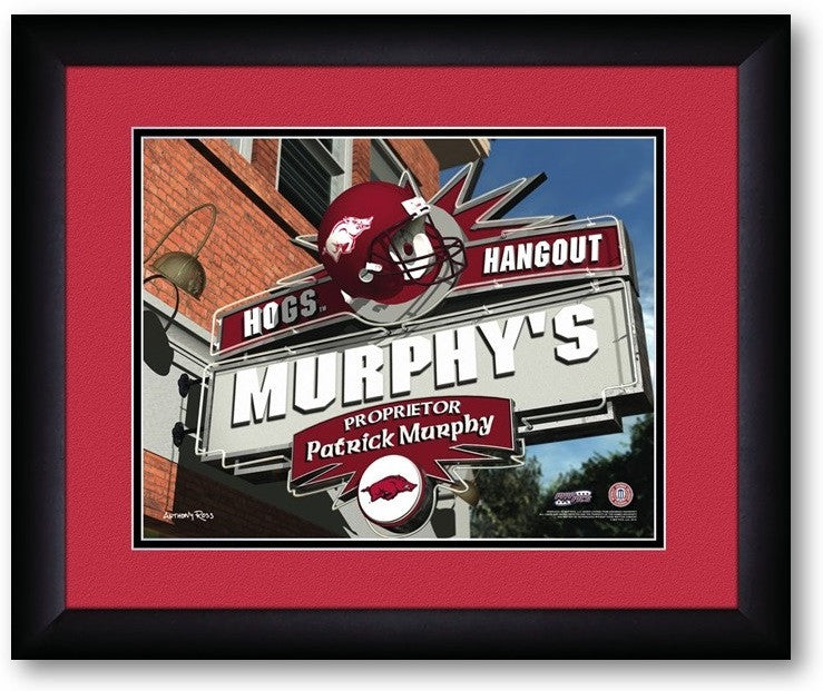 Arkansas Razorbacks Personalized Pub Print - Sports Fans Plus  - 2