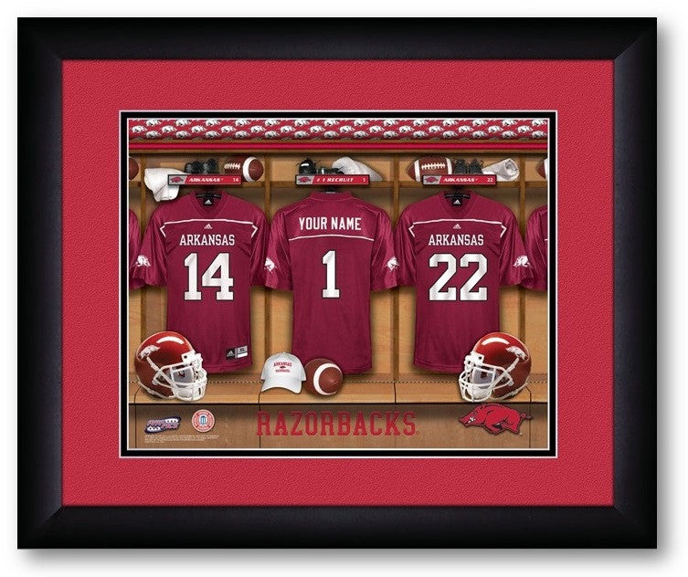 Arkansas Razorbacks Personalized Locker Room Print - Sports Fans Plus  - 2