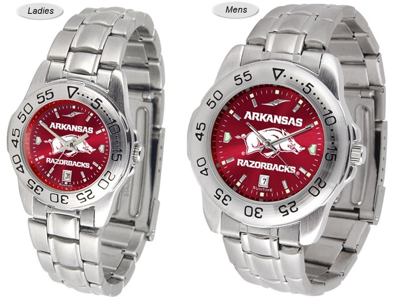 Arkansas Razorbacks Sport Steel AnoChrome Watch