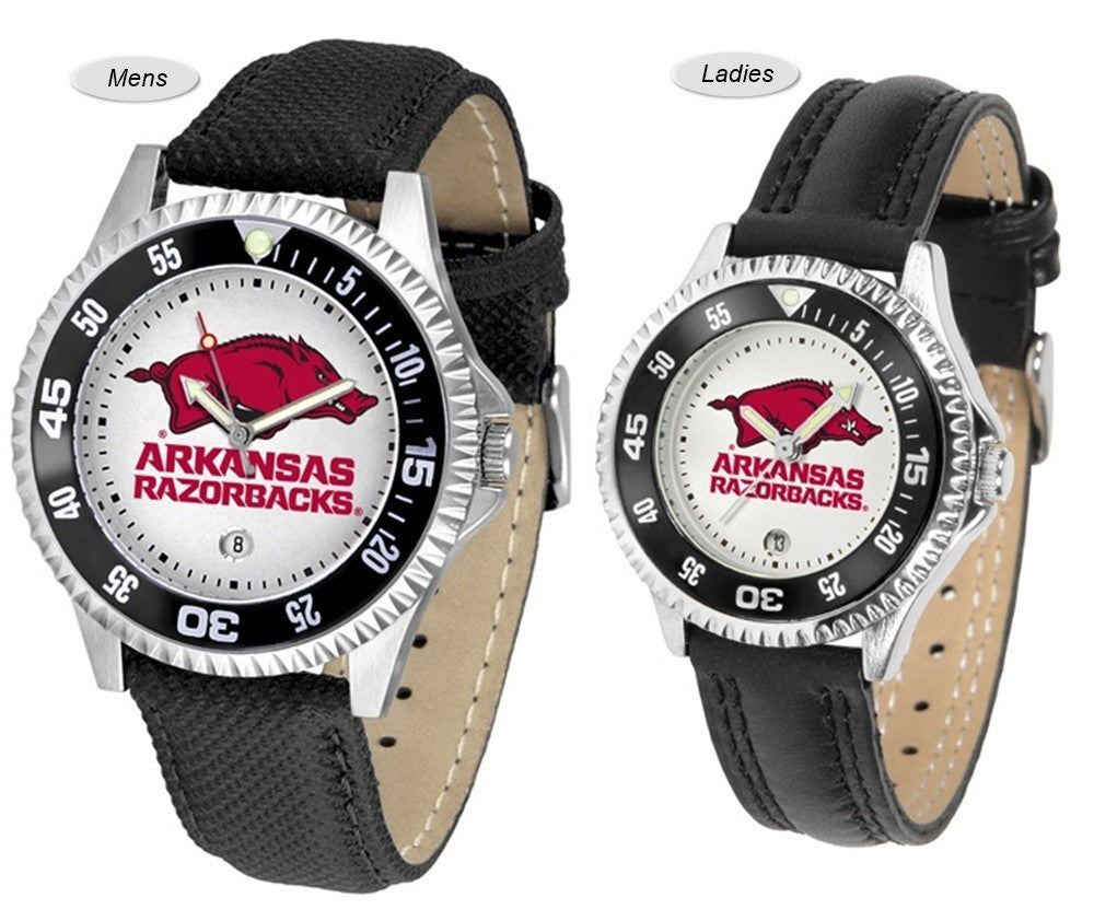 Arkansas Razorbacks Competitor Sport Leather Watch