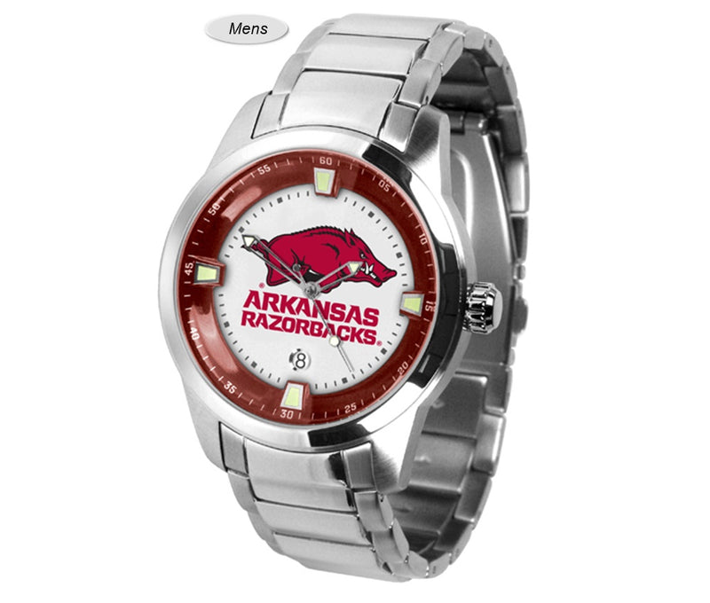 Arkansas Razorbacks Titan Steel Watch