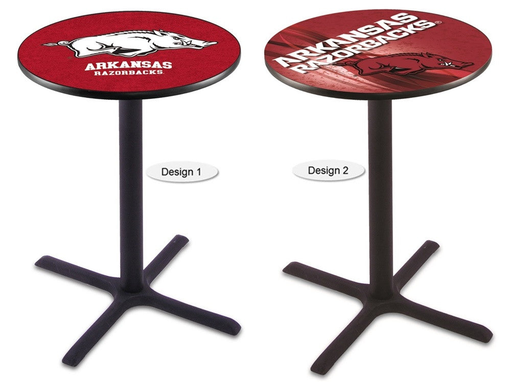 Arkansas Razorbacks Black X-Base Pub Table