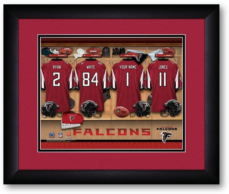 Atlanta Falcons NFL Personalized Locker Room Print - Sports Fans Plus  - 2