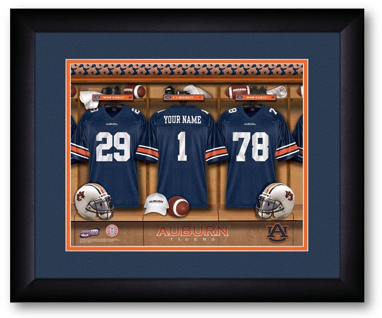 Auburn Tigers Personalized Locker Room Print - Sports Fans Plus  - 2