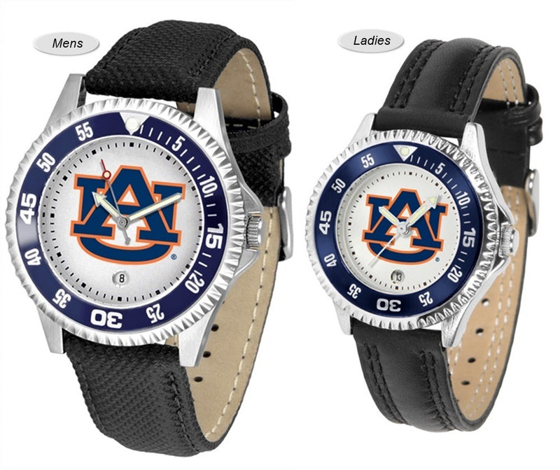 Auburn Tigers Competitor Sport Leather Watch