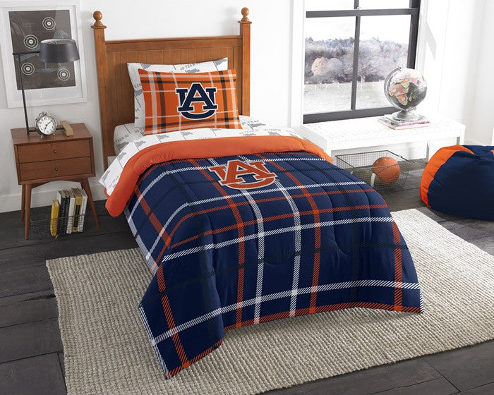Auburn Tigers Twin Bed-in-a-Bag with Sheets