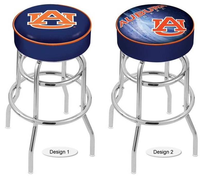 Auburn Tigers Retro Chrome Bar Stool