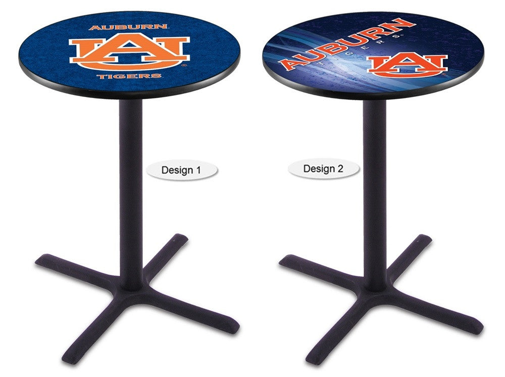 Auburn Tigers Black X-Base Pub Table