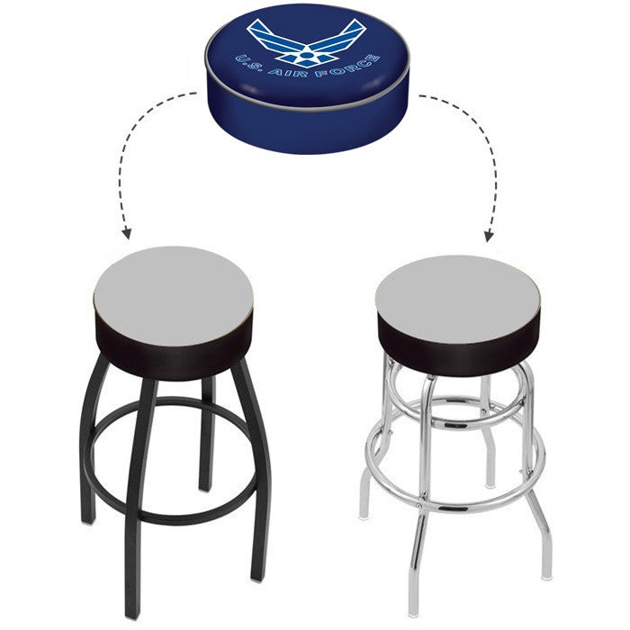 US Air Force Bar Stool Seat Cover - Sports Fans Plus - 1