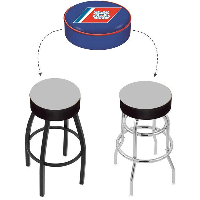 US Coast Guard Bar Stool Seat Cover - Sports Fans Plus - 1