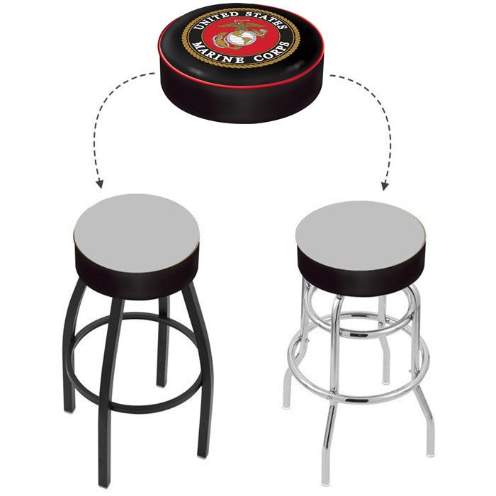 US Marine Corps Bar Stool Seat Cover - Sports Fans Plus - 1