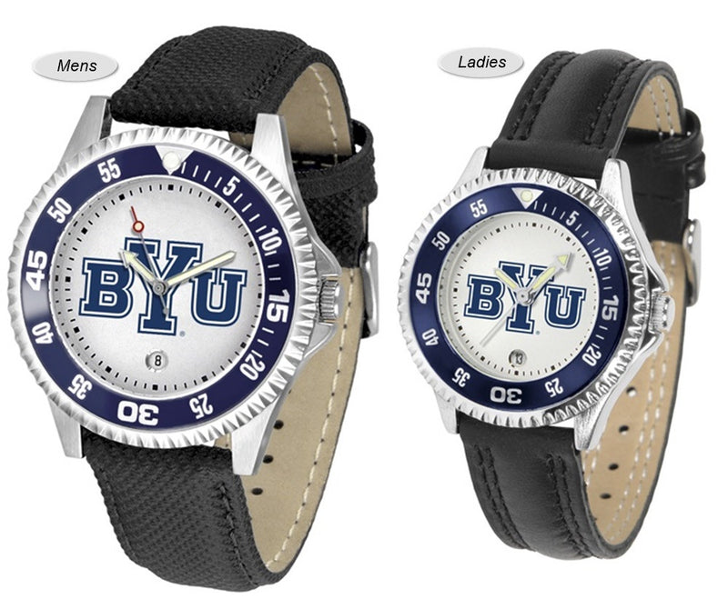 Brigham Young Cougars Competitor Sport Leather Watch