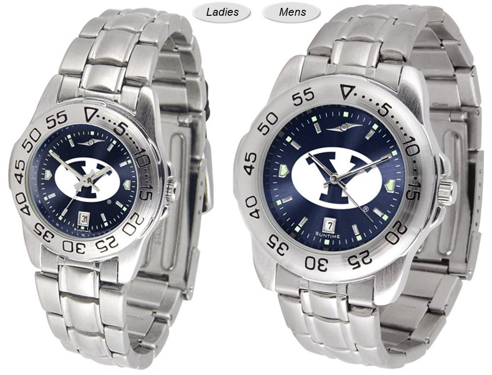 Brigham Young Cougars Sport Steel AnoChrome Watch