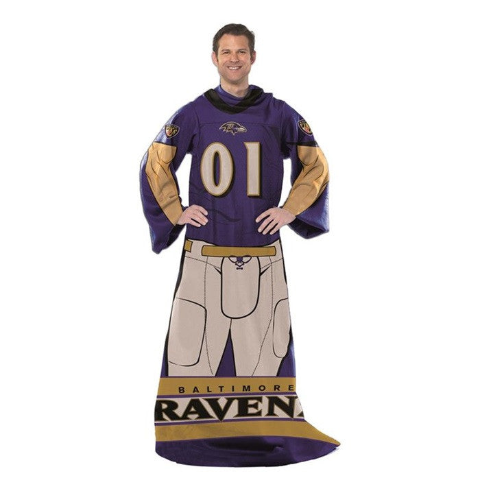 Baltimore Ravens NFL Unisex Adult Comfy Throw - Sports Fans Plus