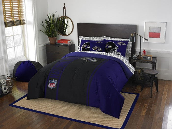 Baltimore Ravens NFL Full Bed-in-a-Bag with Sheets