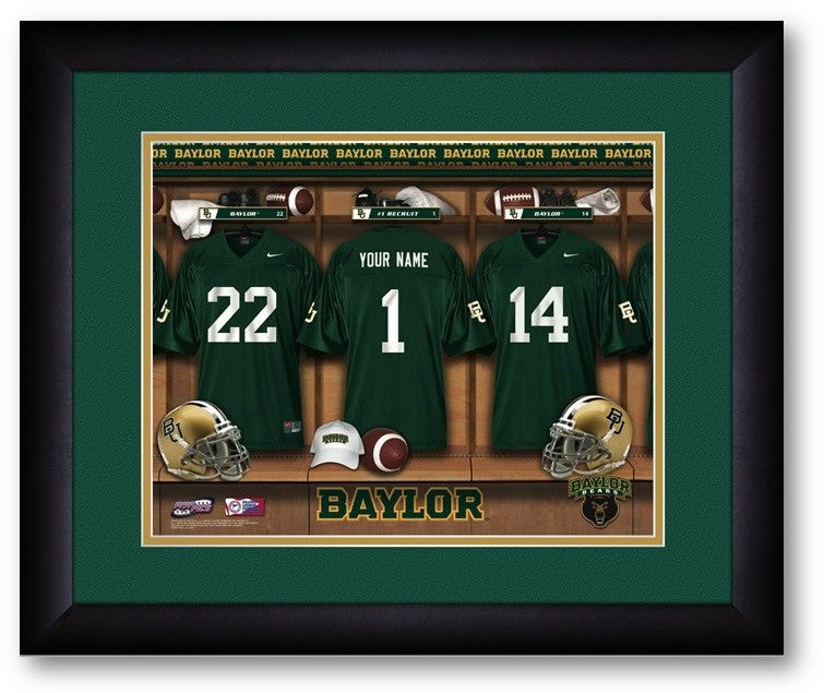 Baylor Bears Personalized Locker Room Print - Sports Fans Plus  - 2