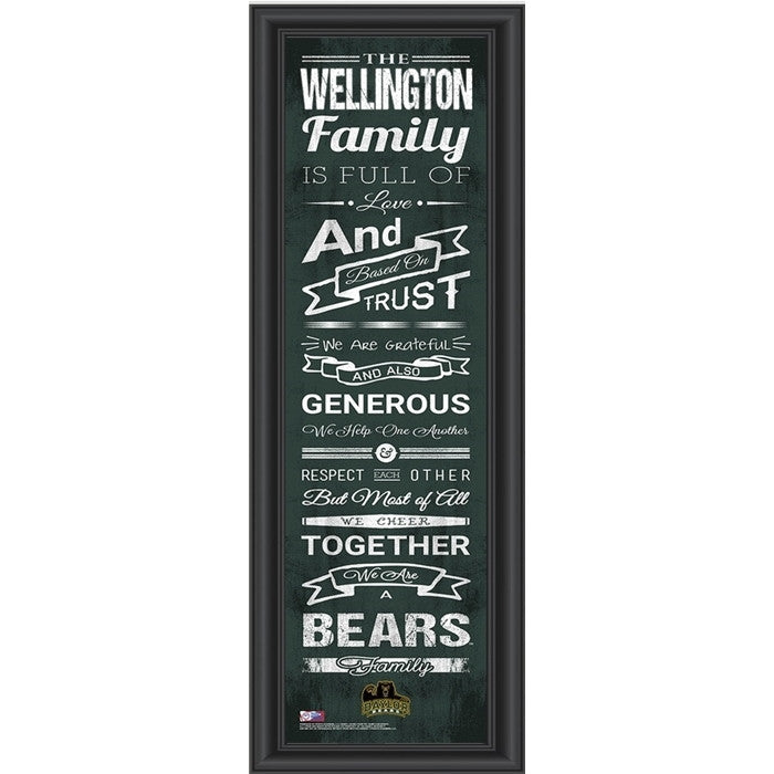 Baylor Bears Personalized Family Cheer Print - Sports Fans Plus