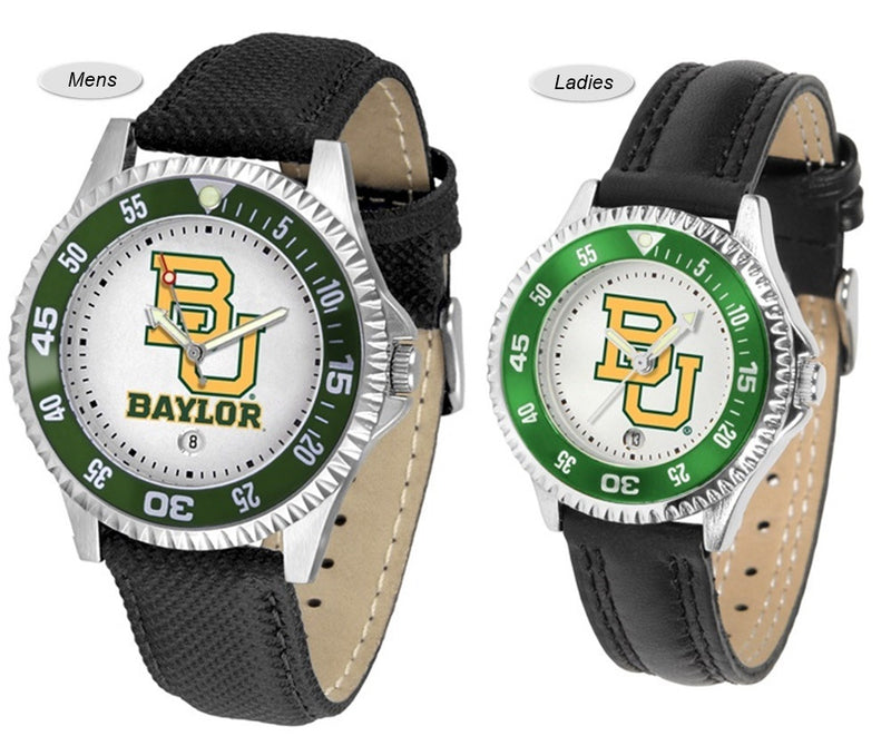 Baylor Bears Competitor Sport Leather Watch