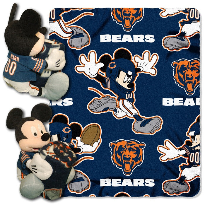 Chicago Bears NFL Mickey Mouse Hugger with Throw - Sports Fans Plus