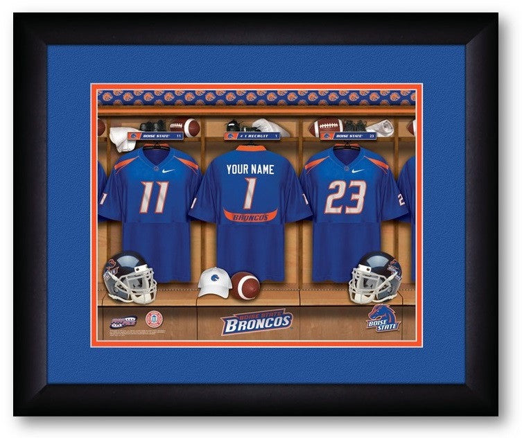 Boise State Broncos Personalized Locker Room Print - Sports Fans Plus  - 2