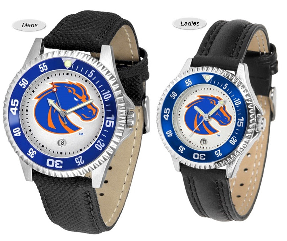 Boise State Broncos Competitor Sport Leather Watch